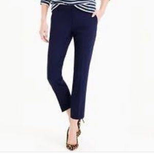 J.Crew Campbell Capri in Bi-Stretch Wool- Navy